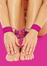Velcro Hand And Leg Cuffs - Pink