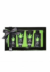 CBD - Bath and Shower - Luxe Gift set - Green Tea Hemp Oil