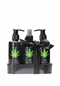 CBD - Bath and Shower - Care set - Green Tea Hemp Oil
