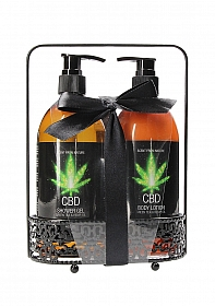 CBD - Bath and Shower - Luxe Care set - Green Tea Hemp Oil