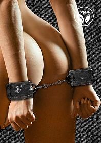 Denim Handcuffs - Roughend Denim Style - Black