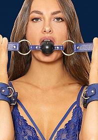 Breathable Ball Gag - Sailor Theme - Blue