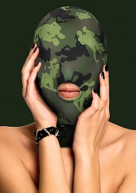 Mask With Mouth Opening - Army Theme - Green
