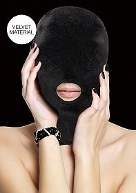 Velvet & Velcro Mask with Mouth Opening
