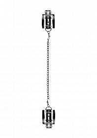 Black Translucent Leg Cuffs with Black Stripes