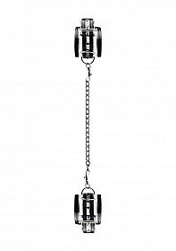 Black Translucent Handcuffs with Black Stripes
