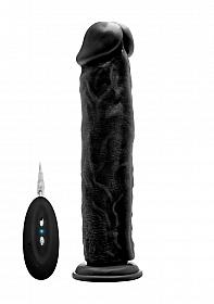 """Vibrating Realistic Cock - 11"""" - Black"""