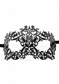 Forrest Queen Masquerade Mask - Black