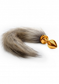 Fox Tail Buttplug - Gold