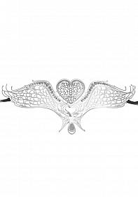 Swan Masquerade Mask - Silver