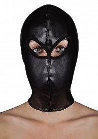 Extreme Leather Hood with Ribon Ties