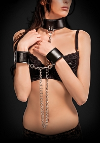 Reversible Collar and Wrist Cuffs - Black