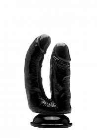 Realistic Double Cock - 6,5 Inch - Black