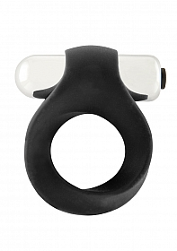 Infinity - Single Vibrating Cockring - Black