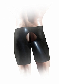 Latex Unisex Fisting Short - Black - S/M