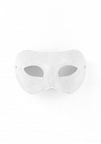 Eye Mask - Suede - White