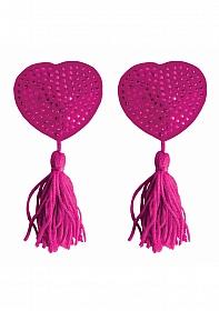 Nipple Tassels - Heart - Pink