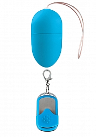10 Speed Remote Vibrating Egg - Medium - Blue