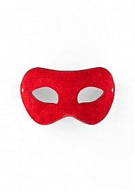 Eye Mask - Suede - Red