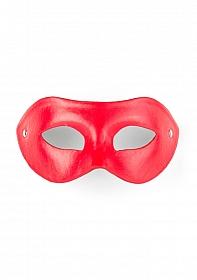 Eye Mask - PVC/Imitation Leather - Red