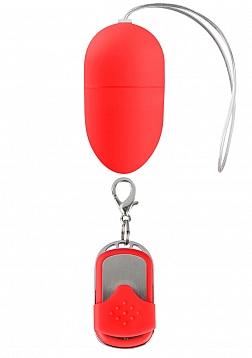 10 Speed Remote Vibrating Egg - Medium - Red