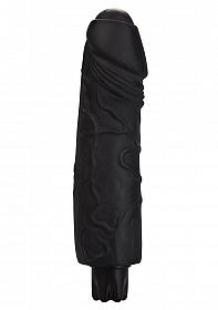 Realistic Skin Vibrator - Big - Black