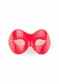 Diamond Moulded Mask - Red