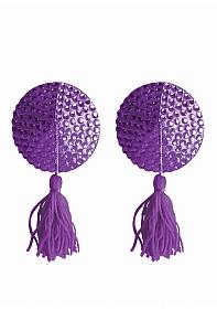 Nipple Tassels - Round - Purple