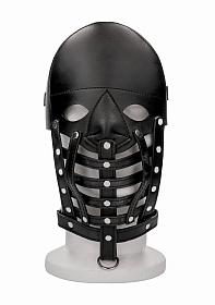 Leather Male Mask - Black