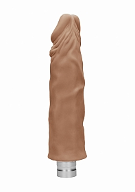 10� / 25 cm Realistic Vibrating Dildo - Brown
