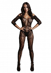 Lace Sleeved Bodystocking