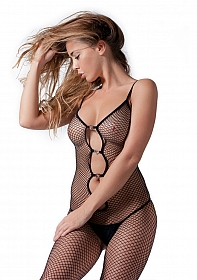 Elegant Bodystocking With Heart Decoration One Size